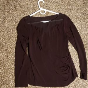 Illusion top mauroon blouse
